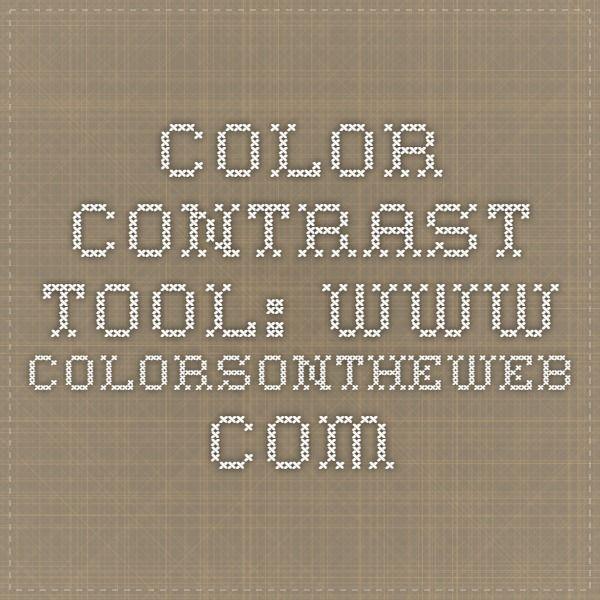 Color Contrast Tool: www.colorsontheweb.com