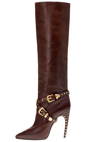 Emilio Pucci - Accessories - 2014 Fall-Winter. Boots in Black, Brown, and Silver/Grey.