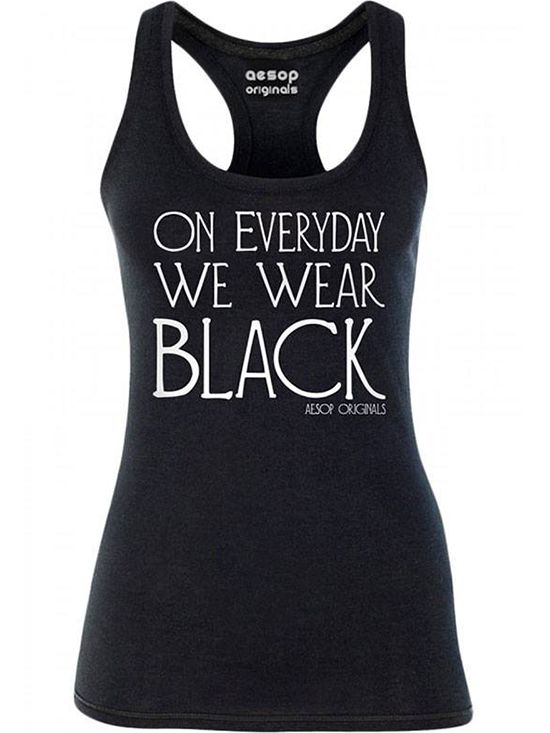 "Women's ""We Wear Black"" Tank by Aesop Originals (Black) #InkedShop #tanktop #tank #top #wordtee"