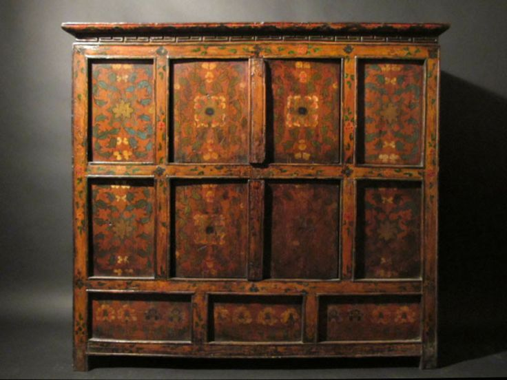 Original Painted Tibetan Altar Cabinet   19thC. 9 best Tibetan Furniture images on Pinterest   Cabinets  Chinese