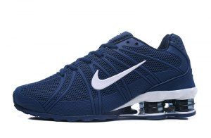 5a9d960f854 Mens Nike Shox Kpu Navy Blue White Running Shoes
