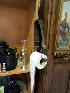 Leather Stirrup Toilet Paper Holder    Great Southwest Decor Piece