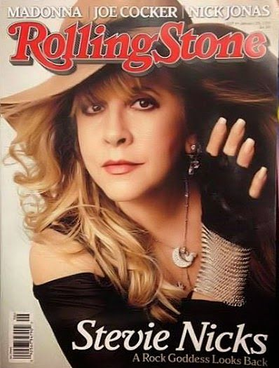 """FLEETWOOD MAC NEWS: WOW! Stevie Nicks is on the cover of Rolling Stone Magazine! """"A Rock Goddess Looks Back"""""""