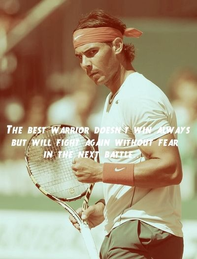 Never a truer word spoken,as Rafa gets knocked out of Wimbledon 2013, in the first round, that has never happened to him before, is this the end for the Spanish warrior.