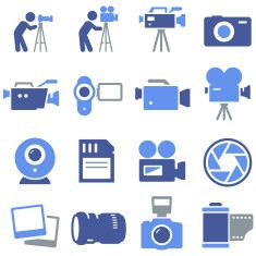 Camera Icons - Pro Series vector art illustration
