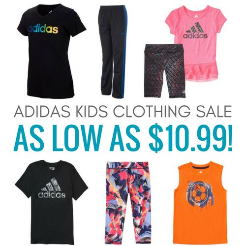 Adidas Kids Clothing Sale! As low as $10.99!