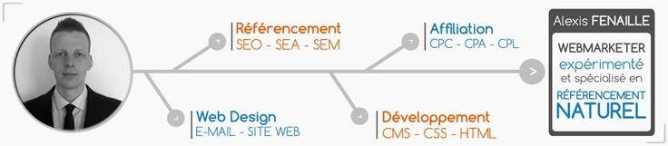 Conception graphique du site puis développement. CV en ligne 100% web ! http://alexisfenaille.perso.sfr.fr/