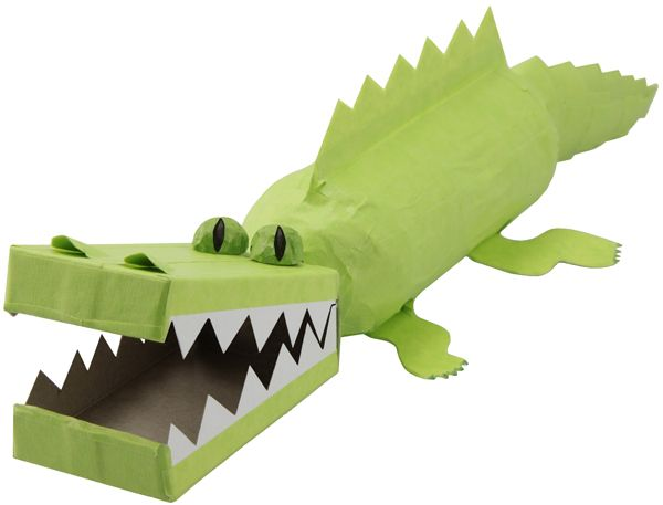 The mascot for my daughter's school is an alligator.  What a fun project for her class to do!