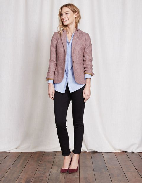 Elizabeth British Tweed Blazer WE551 Jackets at Boden