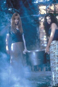 Practical Magic - Gilly and Sally finishing the last part of the ritual to banish Jimmy's spirit.