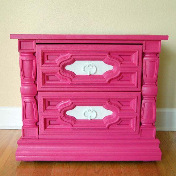Pink Dresser Or Night Stand For Girls Bedroom 125 00
