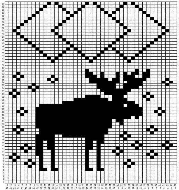Moose scarf pattern