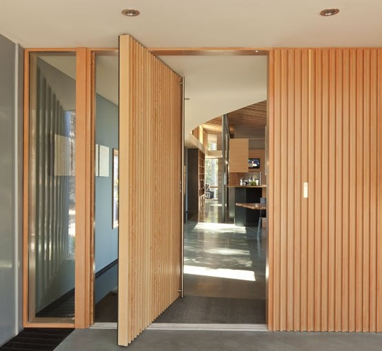 Oversized modern entrance door
