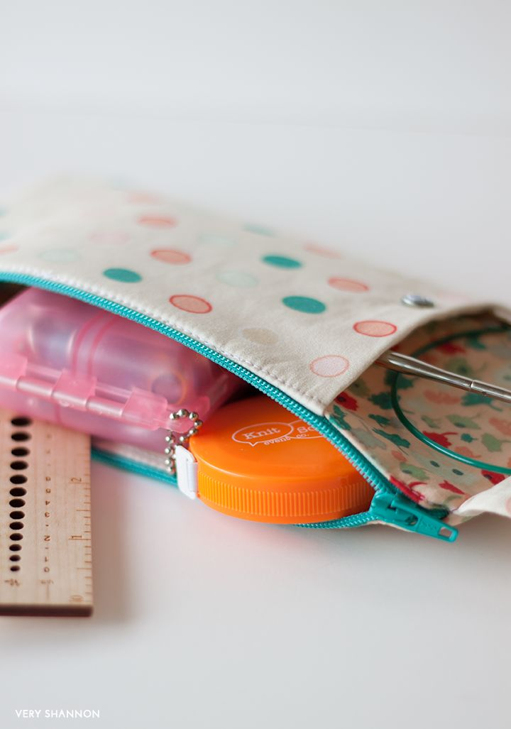 Zippered Knitting Project Bag Tutorial : Images about sewing cosmetic small storage bags on