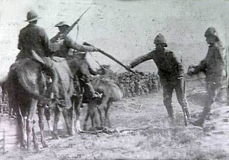 Here in July, 1900, some 5000 BOERS men, women and children, surrendered to the British, who collected and burned their Mauser and Martini-Henry rifles and ammunition.