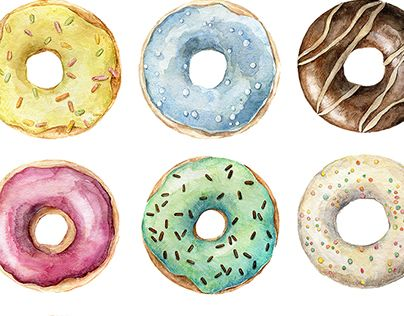 "Check out new work on my @Behance portfolio: ""Watercolor donuts"" http://be.net/gallery/45792091/Watercolor-donuts"