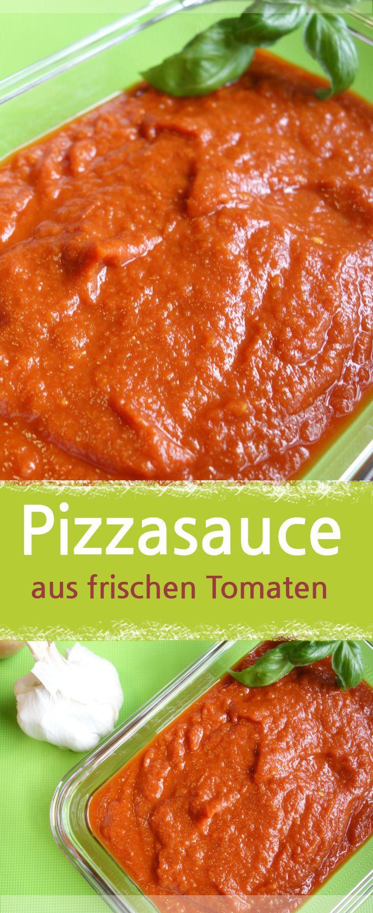 Pizzasauce Selber Machen Mit Frischen Bio Tomaten Meinestube Rezept Pizzasauce Rezepte Tomaten