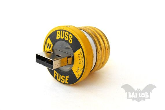 Fuse usb 16GB flash drive  Memory Stick  Vintage Buss by BatLab