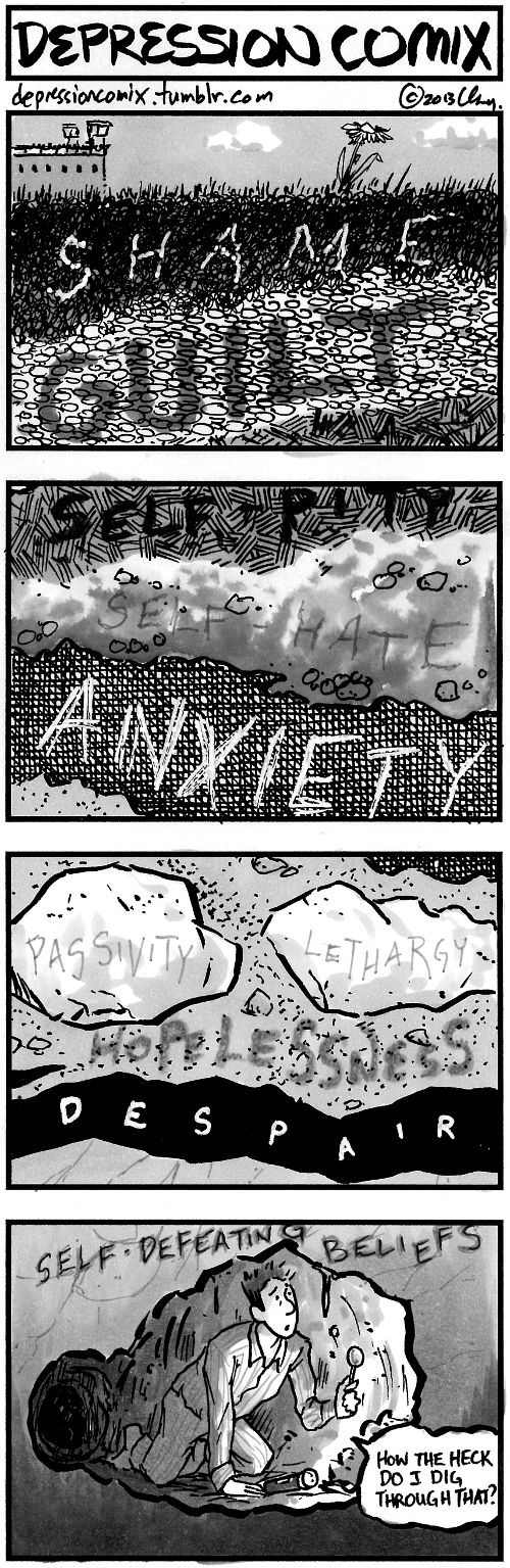 from the archive: depression comix #116 - main site - Patreon