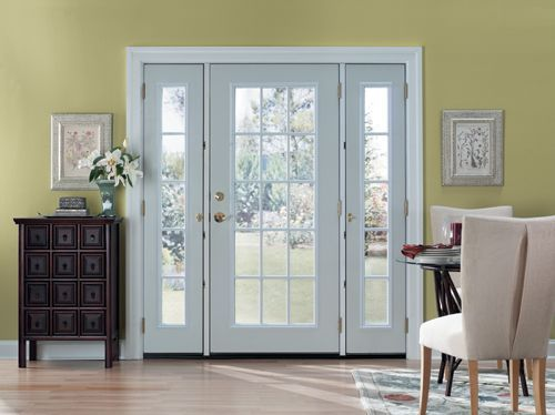Patio Door: This Smooth Fiberglass Door Is Perfect For A Patio. The Glass  Allows Plenty Of Natural Sunlight To Enter Your Home.