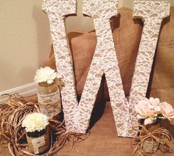 rustic chic wedding decor by Hinenicreations on Etsy, $12.00