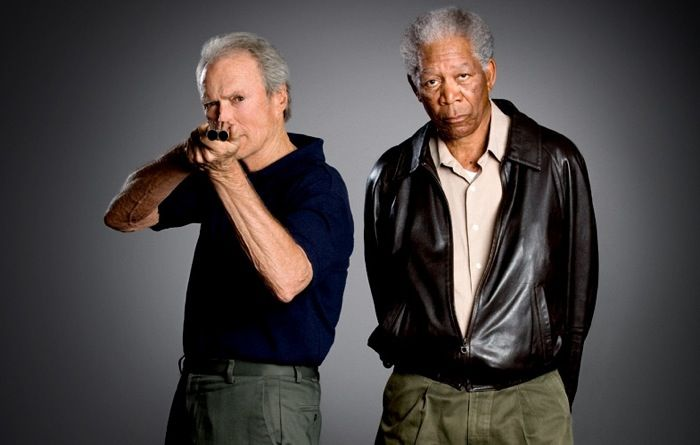 Clint Eastwood and Morgan Freeman. I've seen only a fraction of their collective works, but I haven't been disappointed yet.20Th Anniversaries, Morgan Freeman, The Face, Morganfreeman, Movie, Photos Shoots, Funny Stuff, Clinteastwood, Clint Eastwood
