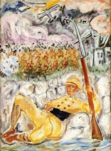 In the Trenches (Ivan Lönnberg) - Nils Dardel - The Athenaeum