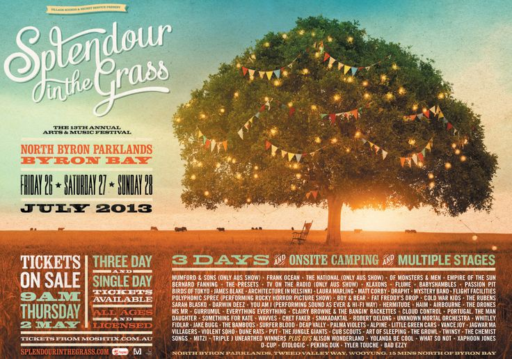SPLENDOR IN THE GRASS 2013!!!<3 Going to be AMAZING!