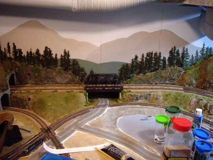 Top 25 ideas about model train backdrops on pinterest - Model railroad backdrops ...