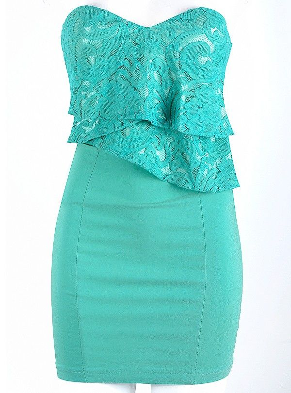 so pretty!!: Summer Dresses, Lace Tops, Dreams Closet, Teal Dresses, Pretty Colors, Tiffany Blue, Summer Outfits, Graduation Dresses, Turquoise Dresses