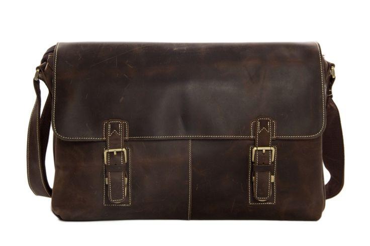 Bags : Handcrafted Vintage Genuine Leather Men Messenger Bag