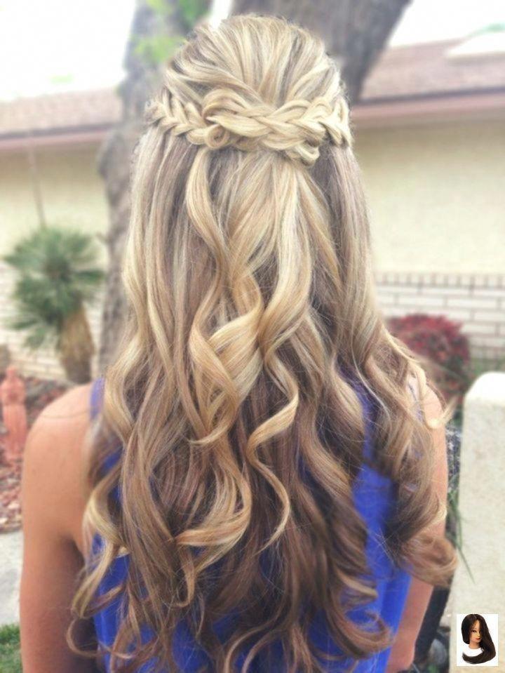 Prom Hairstyles For Long Hair Half Up Half Down Frisuren Madame Frisur Hair Promhair Frisur Fris In 2020 Wedding Hair Down Curly Hair Styles Thick Hair Styles