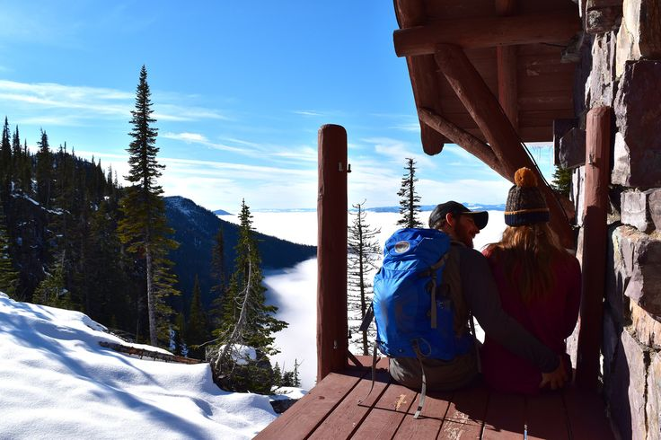 My boyfriend and I hiking up to Lincoln Peak in Glacier National Park. Lunch break at Sperry Chalet above an inversion.  Peaks to Pearls - Blog