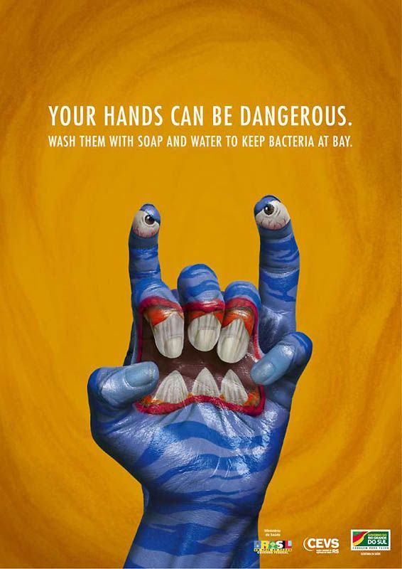 Get hands clean.