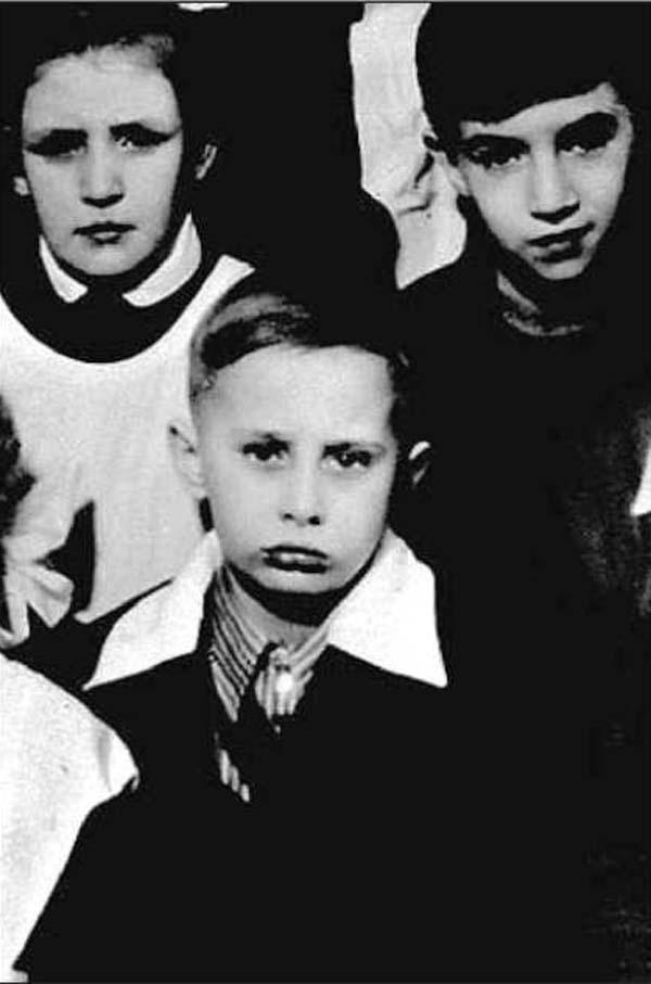 Vladimir Putin as a child. He looks like a little Macaulay Culkin!