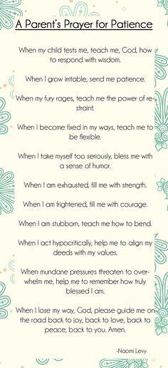 a parents prayer