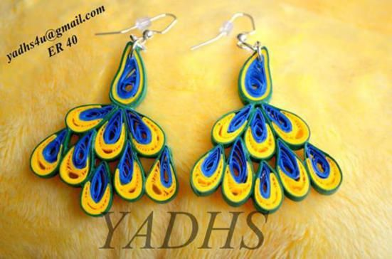 quilling jewelry | Beautiful Paper Quilling Jewelry By Yadhs - Life Chilli
