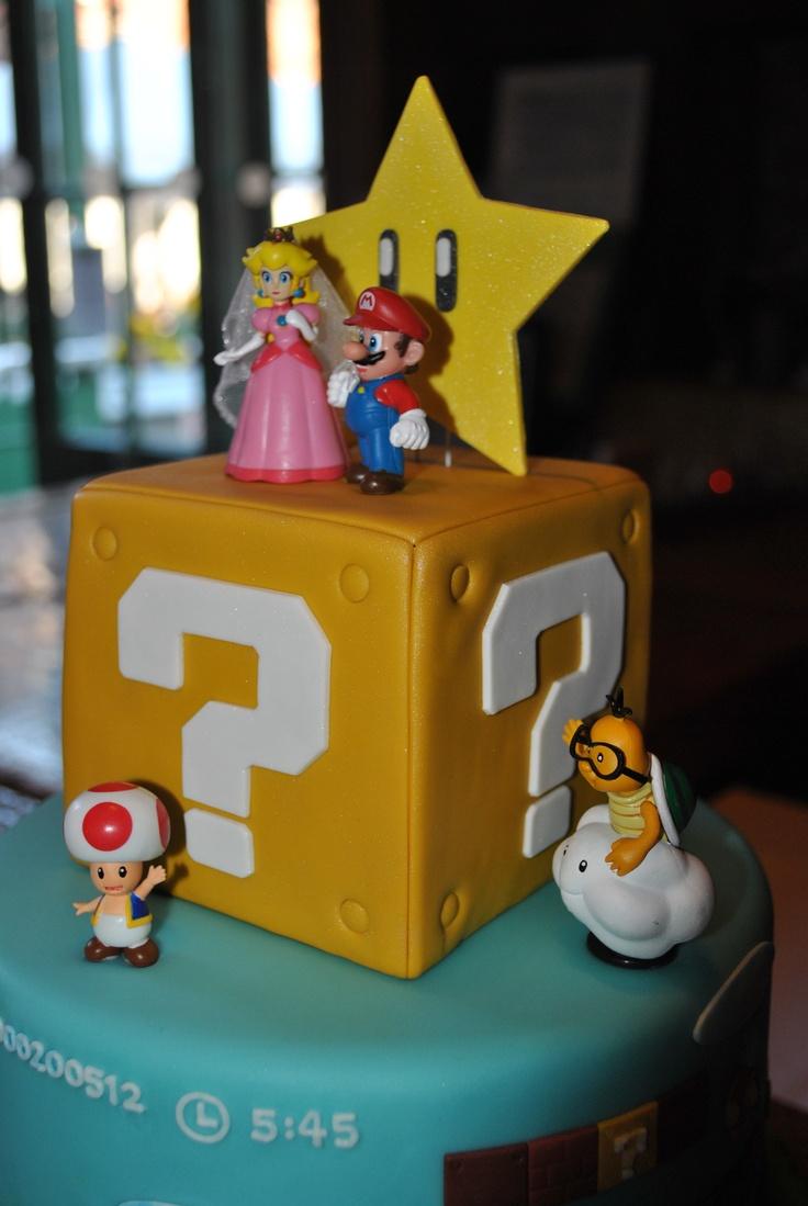 Super Mario wedding cake toppers