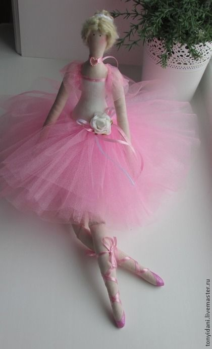 Tilda muñecas hechas a mano. Masters Feria - estilo de la muñeca hecha a mano Tilda bailarina. Hecho a mano.
