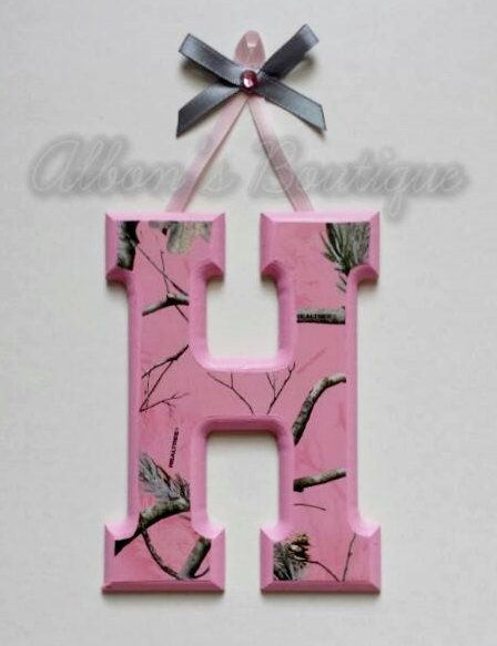 NOT DIY INSTRUCTIONS - Pink RealTree Camo Wooden Wall Letters by AlbonsBoutique on Etsy, order today! #camo #realtree