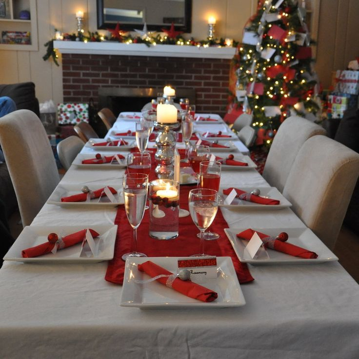 25+ best ideas about Christmas table decorations on Pinterest | Table decorations Christmas table & red and silver christmas table settings | My Web Value