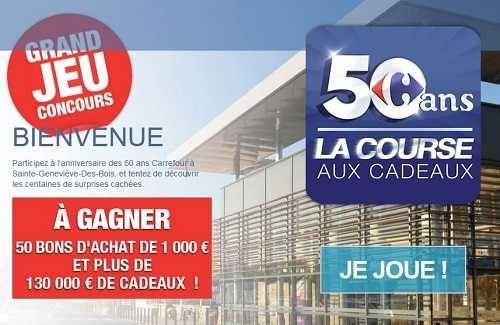 En plus des promotions en magasin Le mois Carrefour c'est aussi un jeu concours avec 10 516 cadeaux à gagner.