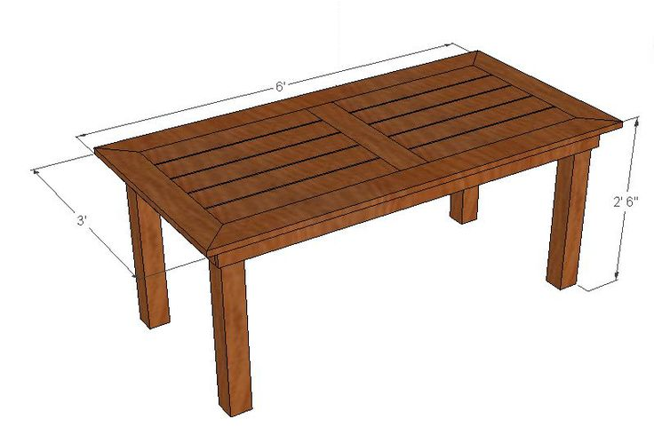 25 best ideas about outdoor table plans on pinterest i for Build your own patio table
