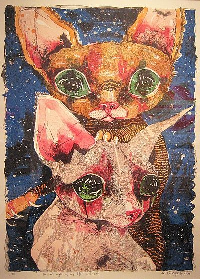 Del Kathryn Barton, The last night of my life with cat