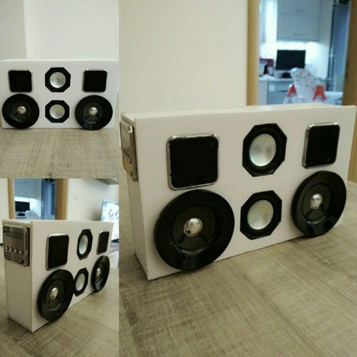 Φορητό ηχείο από μακετόχαρτο από παλιά ηχεία 🔊🎵🎶🎧 (portable speaker)
