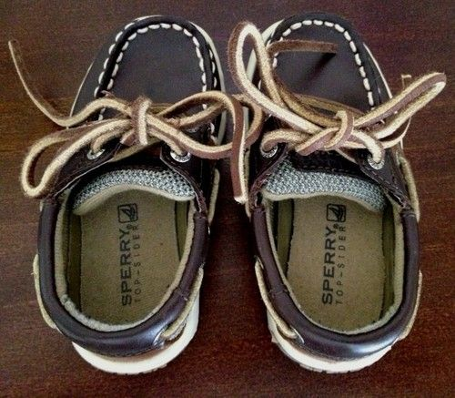 Sperry Top Sider Bluefish LC Toddler Boy Boat Shoes Size 6 M Leather Mint | eBay