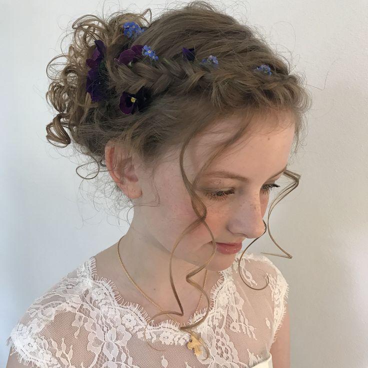 Konfirmations hår med naturkrøller