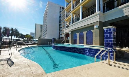 Myrtle Beach resort with oceanfront pool enhances vacation digs with fully equipped kitchens, free WiFi, and patios with amazing ocean views
