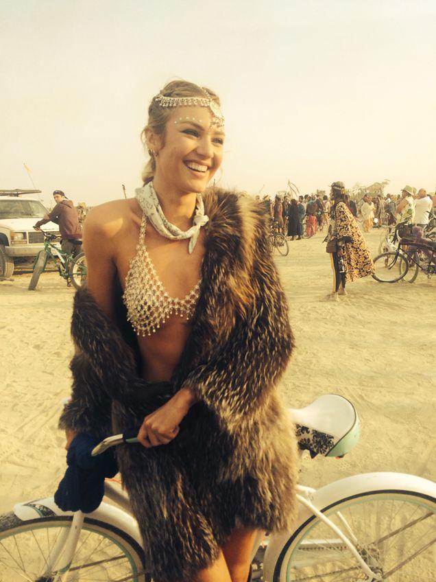 Candice Swanepoel at Burning Man                                                                                                                                                      More