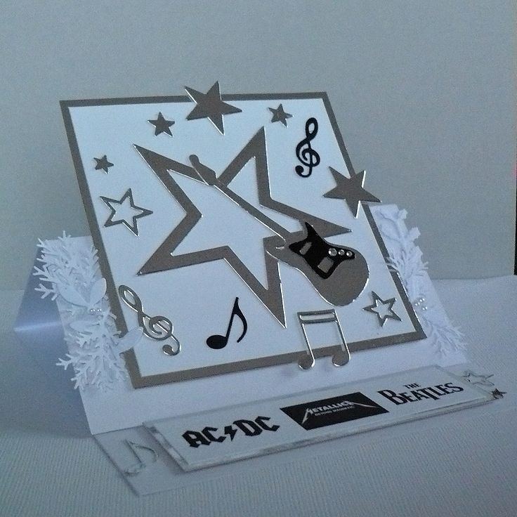 card - Christmas, rock